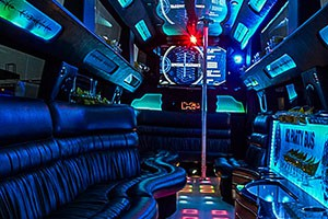 interior of party bus