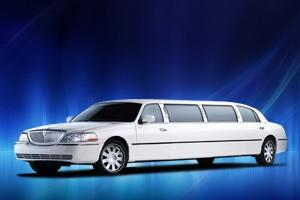 Whiter Luxury Limousine